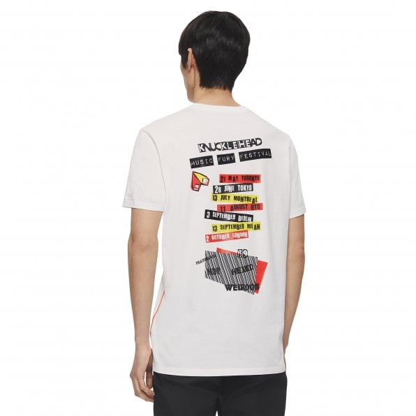 MOOSE KNUCKLES Mens White Tonight Crewneck T-Shirt