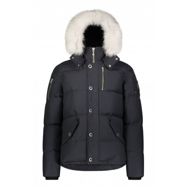 MOOSE KNUCKLES Navy 3Q Jacket with Natural Fur