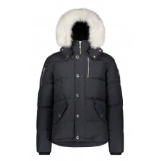 Navy 3Q Jacket with Natural Fur