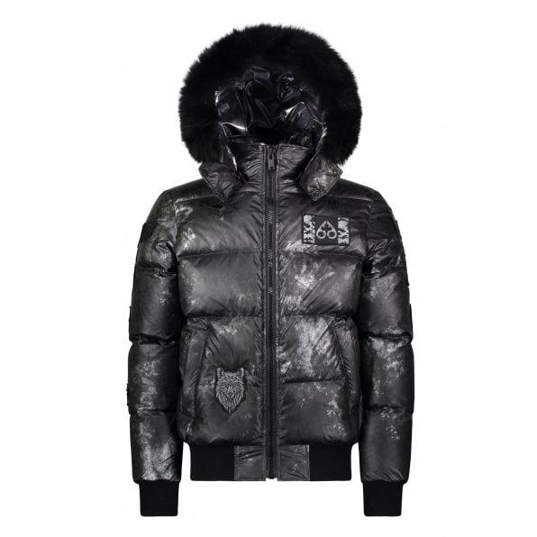 MOOSE KNUCKLES Pengarth Bomber Down filled Puffer jacket in Carbon
