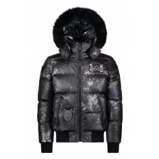 Pengarth Bomber Down filled Puffer jacket in Carbon
