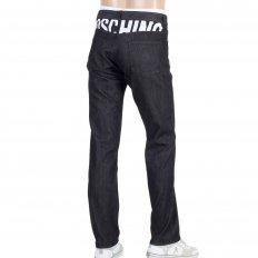 Mens Black Washed Stretch Comfort Denim Jeans