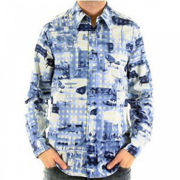 MOSCHINO Mens long sleeve printed shirt