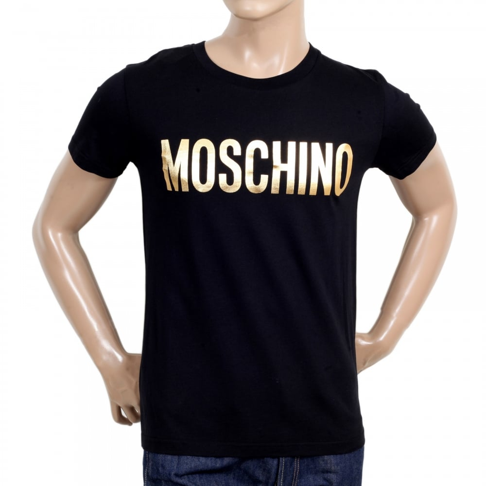 buy moschino short sleeve black t shirt at niro fashion. Black Bedroom Furniture Sets. Home Design Ideas