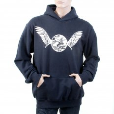 Navy Overhead Large Fitting Hooded Sweatshirt for Men