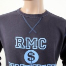 RMC JEANS Navy Untunk Crew Neck Large Fitting Sweatshirt for Men