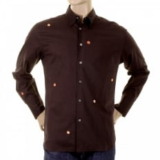 Dark Brown Long Sleeve Shirts