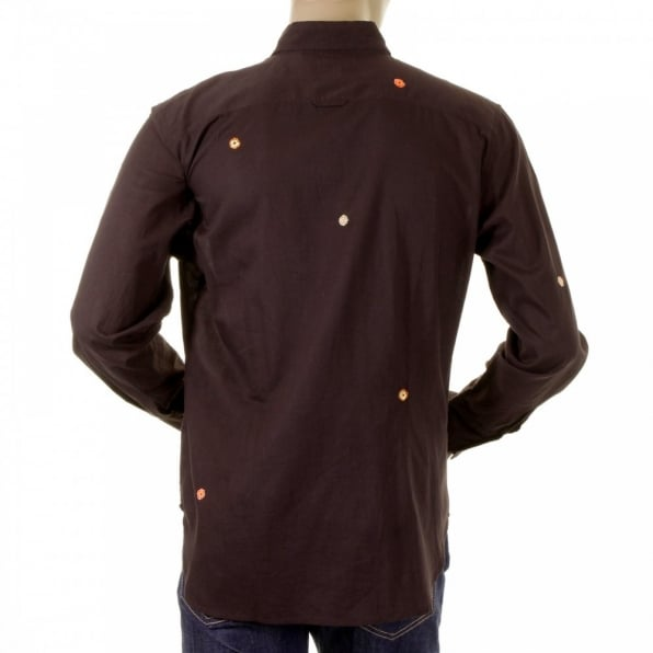 PAUL SMITH Dark Brown Long Sleeve Shirts