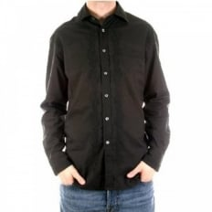 Long Sleeve Mens Black Shirt
