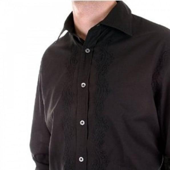 PAUL SMITH Long Sleeve Mens Black Shirt