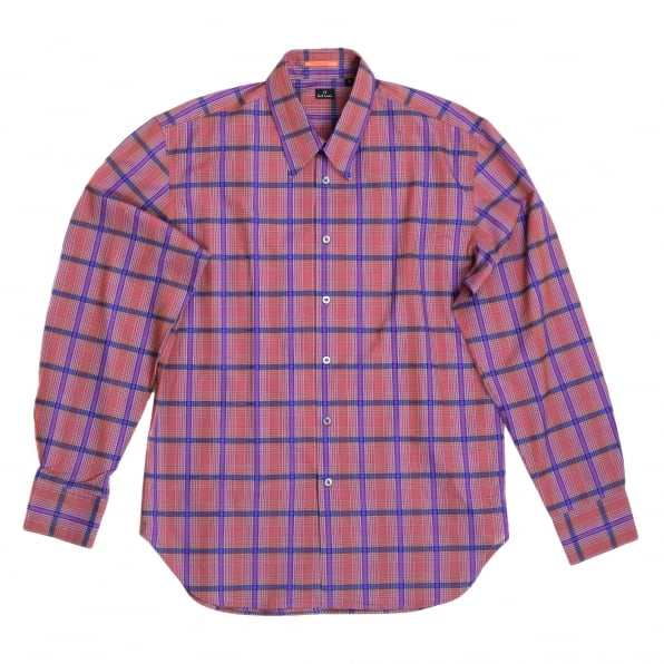 PAUL SMITH Mens Long Sleeve Check Shirt