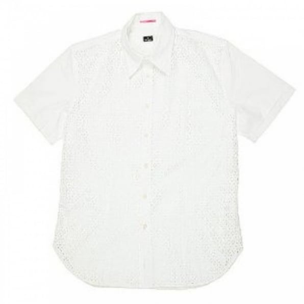 PAUL SMITH Mens Short sleeve casual white shirt