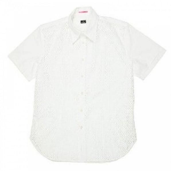 PAUL SMITH Mens Short sleeve casual white shirt