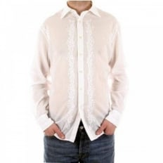 White long sleeve mens fashion shirt