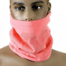 Pink Fleece Neck Warmer Snood