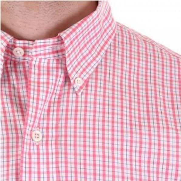 POLO RALPH LAUREN Regular Fit Long Sleeve Pink/White Check Shirt