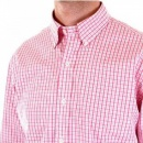 POLO RALPH LAUREN Regular Fit Long Sleeve Pink/White Check Shirt