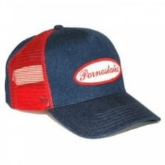Denim trucker cap