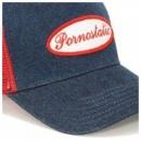 PORNOSTATIC Denim trucker cap
