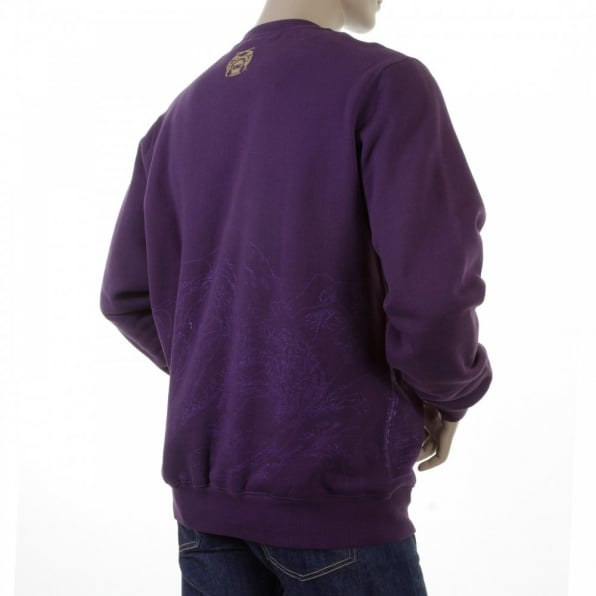 RMC JEANS Purple Large Fitting Sweat Shirt for Men