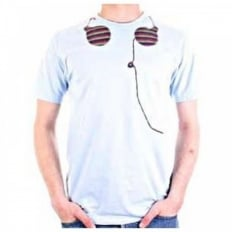 Crew neck headphones t shirt