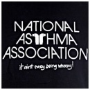 RED DOT National Asthma Association Black T Shirt