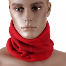 Red Fleece Neck Warmer Snood For Men