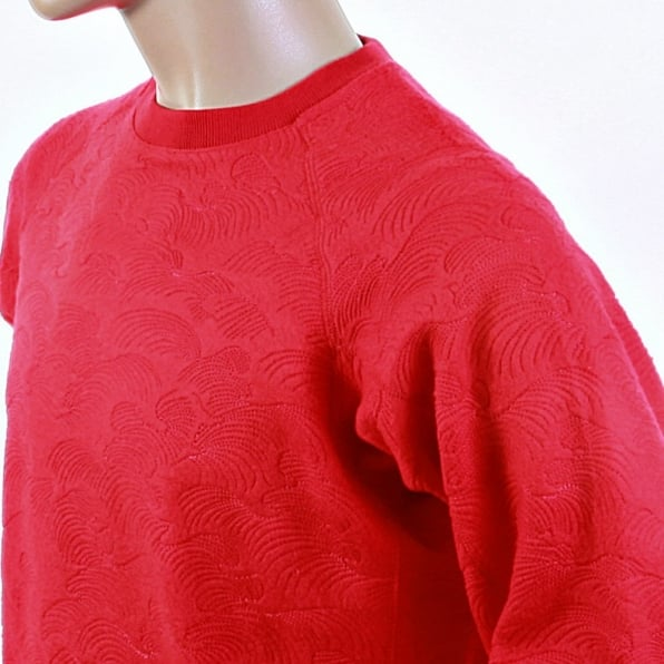 RMC JEANS Red Large Fitting Crew Neck Sweatshirt for Men