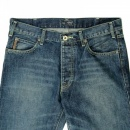 ARMANI JEANS Regular Fit Stone Washed Jeans with Fading Dirty Green Cast