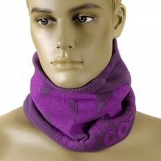 Reversible Purple Fleece Neck Warmer Snood
