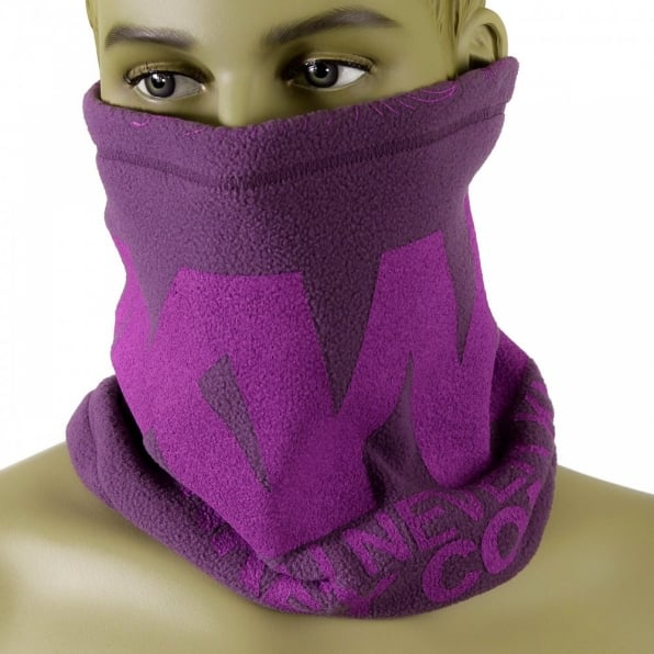 RMC MKWS Reversible Purple Fleece Neck Warmer Snood