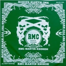 100% cotton mens green printed bandana