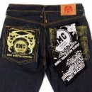 RMC JEANS 100% cotton mens printed black bandana