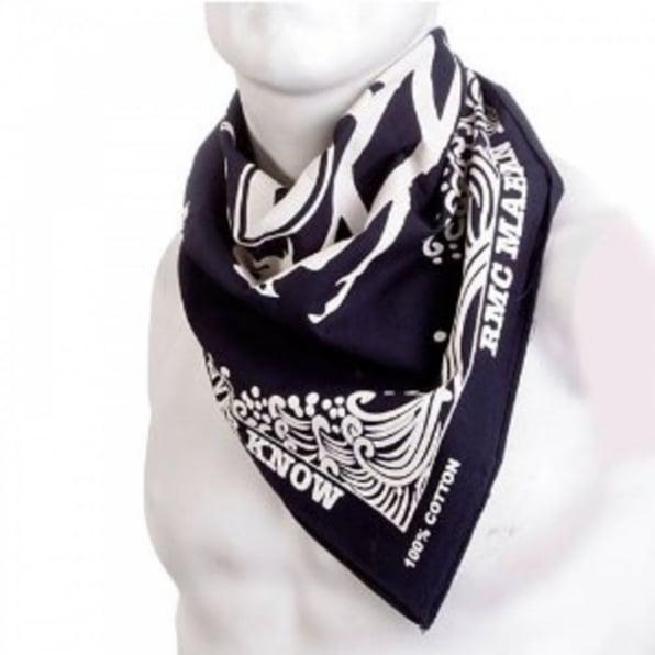 RMC JEANS 100% Cotton Mens printed Navy bandana