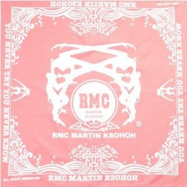RMC JEANS 100% cotton mens printed pink bandana