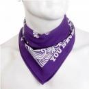 RMC JEANS 100% cotton mens printed purple bandana