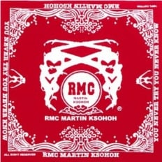 100% Cotton mens red bandana printed