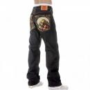 RMC JEANS 100% Cotton Vintage Cut Selvedge Raw Denim Dark Jeans