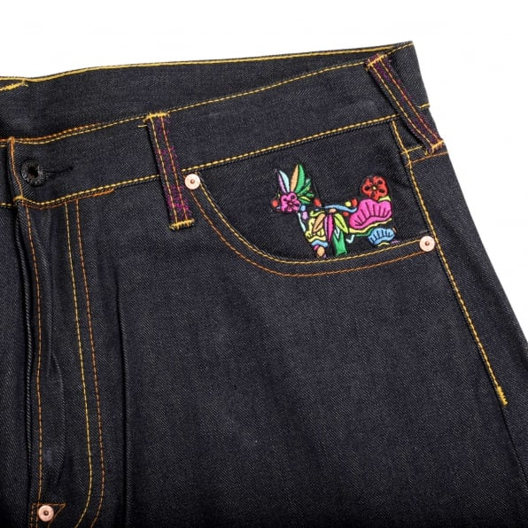 RMC JEANS 2 Ladies Super Exclusive Vintage Dark Indigo Selvedge Raw Denim Jean