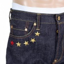 RMC JEANS 4A Version 1 Indigo Raw Japanese Selvedge Denim Jeans with Gold Embroidery