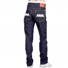 4A Version 1 Regular Classic Slim Model Indigo Raw Japanese Selvedge Embroidered Denim jeans