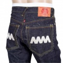 RMC JEANS 4A Version 1 Regular Classic Slim Model Indigo Raw Japanese Selvedge Embroidered Denim jeans