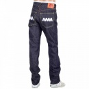 RMC JEANS 4A Version 1 White Embroidered Indigo Japanese Selvedge Denim Jeans with White Embroidery