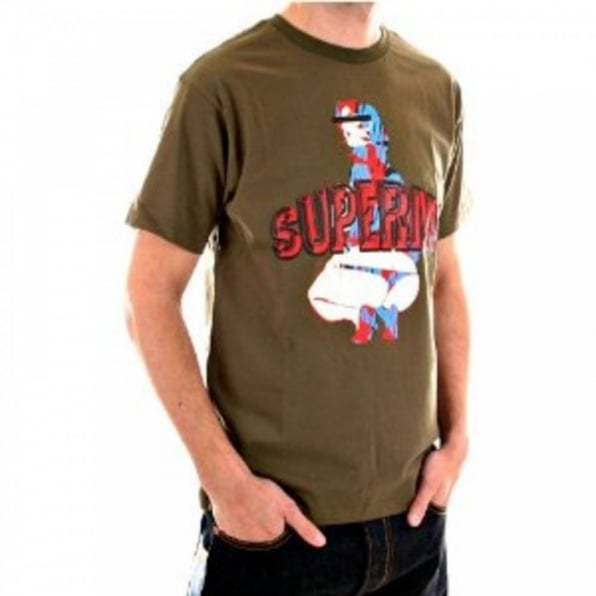 RMC JEANS Army green short sleeve cotton t-shirt