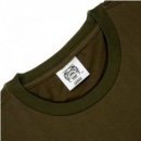 RMC JEANS Army green short sleeve regular fit crew neck t-shirt