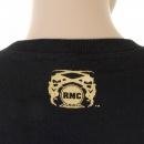 RMC JEANS Black Crew Neck Large Fitting Sweatshirt For Men