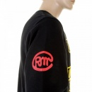 RMC JEANS Black Crew Neck Large Fitting Sweatshirt For Men