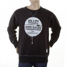 Black Crew Neck Large Fitting Sweatshirt