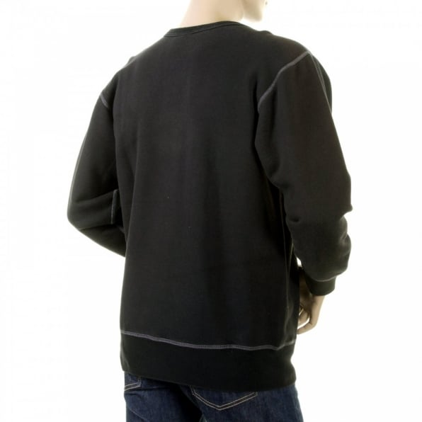 RMC JEANS Black Crew Neck Large Fitting Sweatshirt
