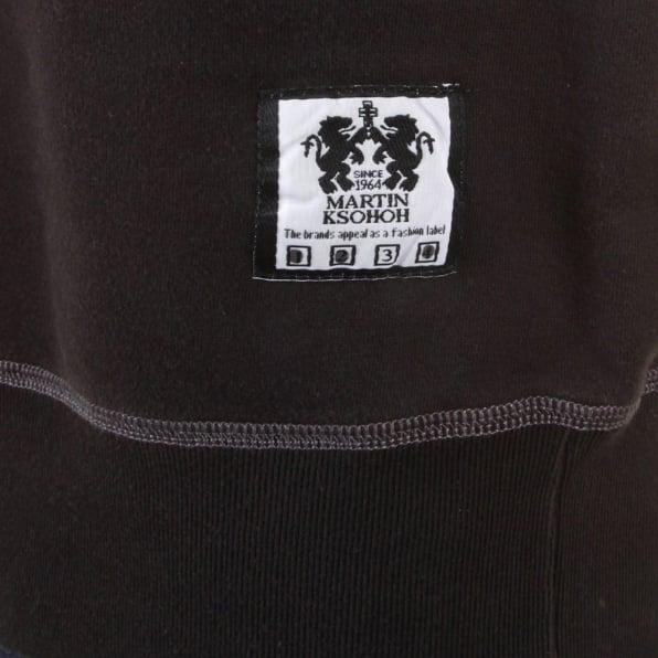 RMC JEANS Black Crew Neck Large Fitting Sweatshirt